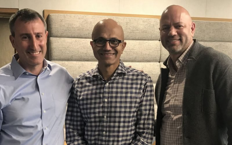 David Endler, Satya Nadella and Ted Ross