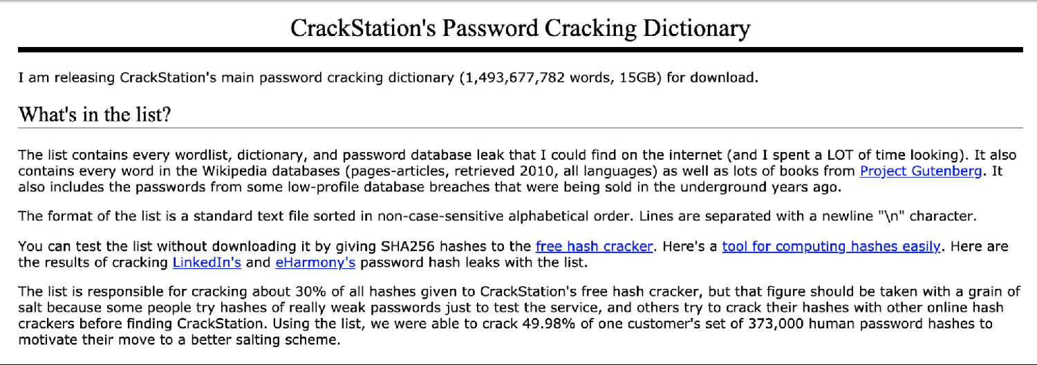 Password Cracking Dictionary Ad
